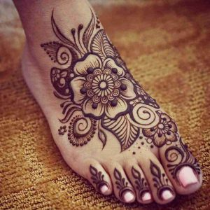 foot mehndi designs easy