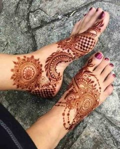 mehndi design for feet simple