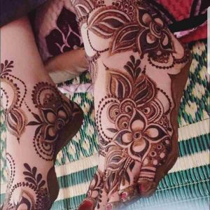 mehndi design for foot