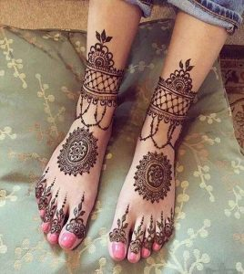mehndi design image for legs