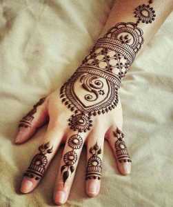 mehndi designs for back hands arabic