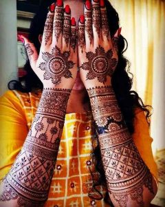 mehndi designs for back side