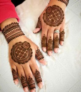 simple mehndi design full hand