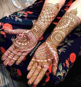 arabic mehendi design for bride