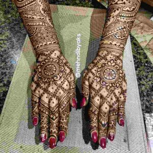 bridal mehndi designs latest