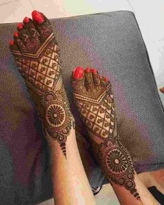 dulhan mehndi designs for legs