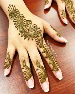 mehndi designs very easy