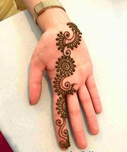 simple arabic mehndi design for beginners