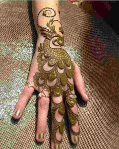 simple mehndi arabic design