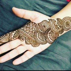right hand mehndi design front side