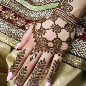 simple arabic mehndi designs for back hands for beginners