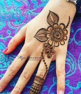 simple arabic mehndi designs for left hand front side