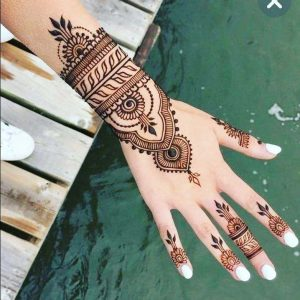 simple henna mehndi designs for bridal hands