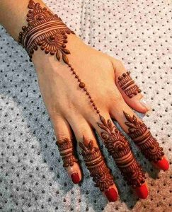 simple henna mehndi designs for hands image download
