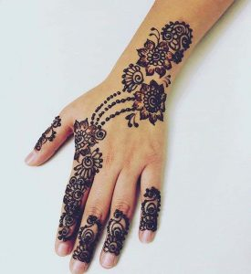 Mehndi Designs for Fingers Simple and Easy