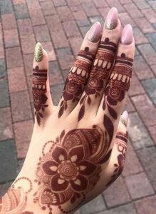 easy mehndi designs for front hand